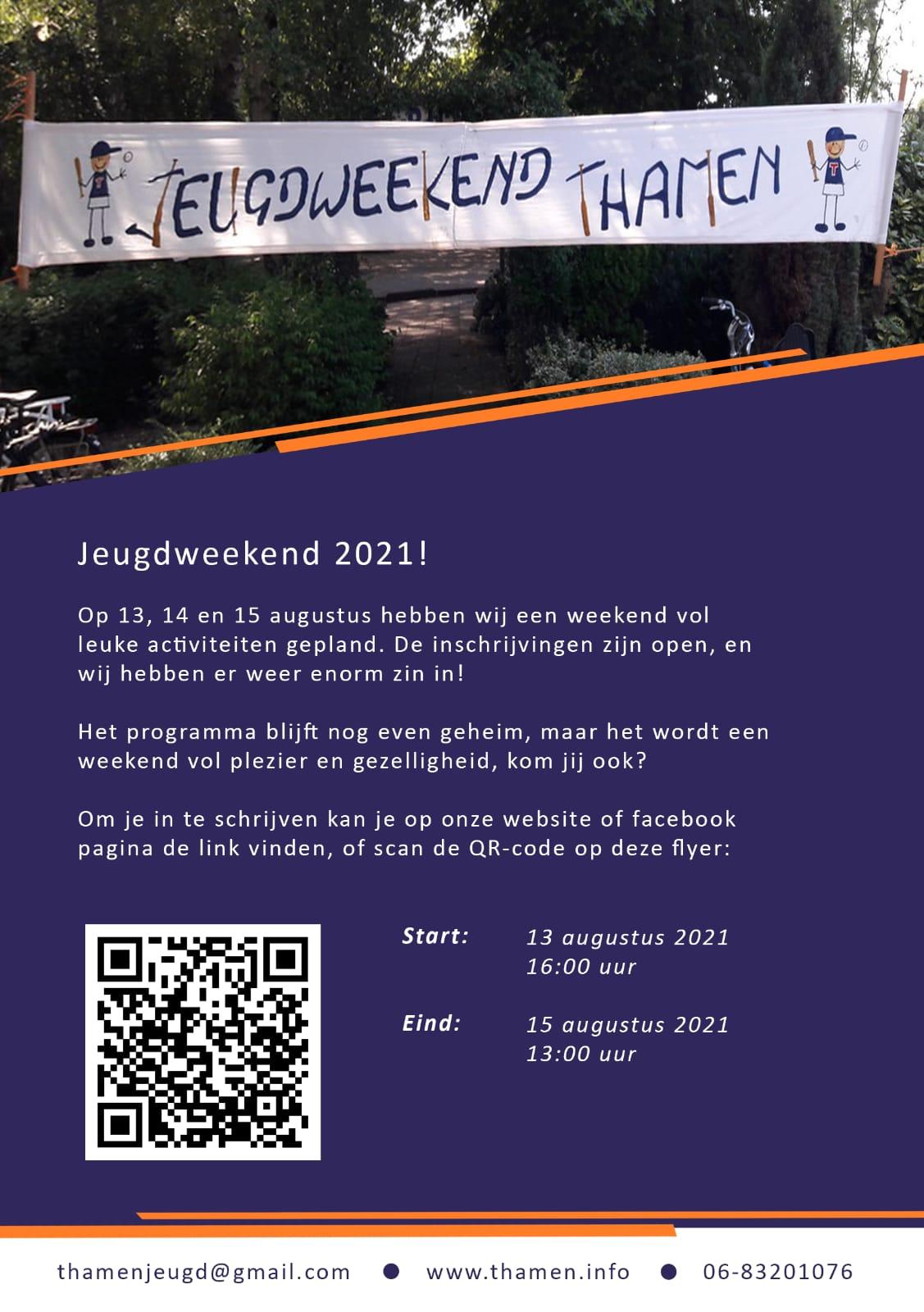 Geef je op voor het Jeugdweekend 2021!