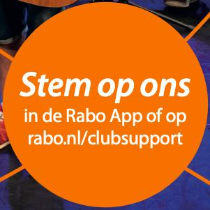 Thamen doet mee aan de Rabobank ClubSupport actie